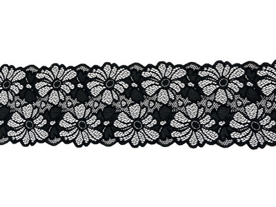 LULLABY STRETCH LACE BORDER BLACK