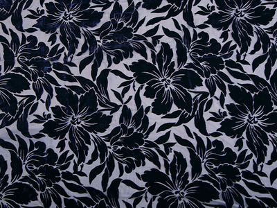 AMELIA SILK BURNOUT MIDNIGHT SKY