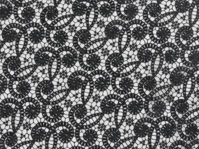 SWIRL CROCHET LACE BLACK