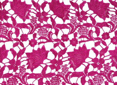CLOVER ALLOVER LACE-MAGENTA