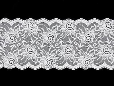 HIBISCUS STRETCH LACE BORDER WHITE