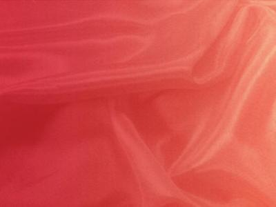 SHADING ON SATIN CHIFFON RED-SUN