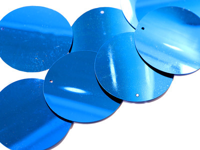 LOOSE SEQUINS 50MM ELECTRIC BLUE