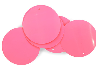 LOOSE SEQUINS 50MM PINK TROPICANA